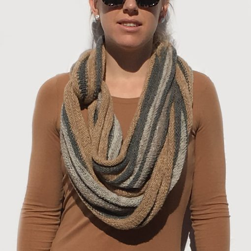 Striped Rib Cowl