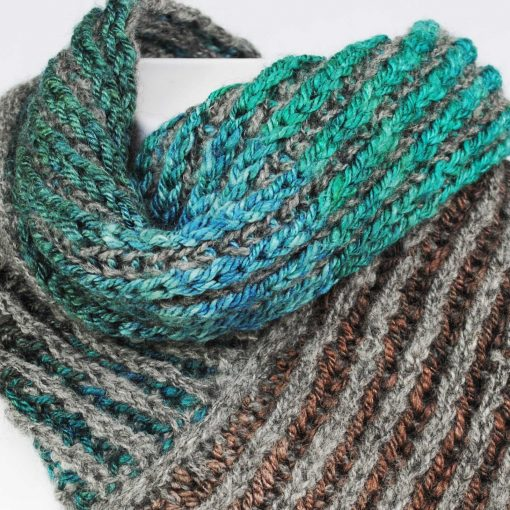 Rib scarf Natural grey