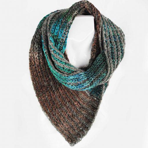 Rib scarf Natural grey