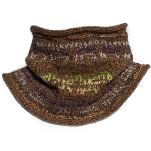 Mens Mosaic-Cowl-Misty-Chocolate
