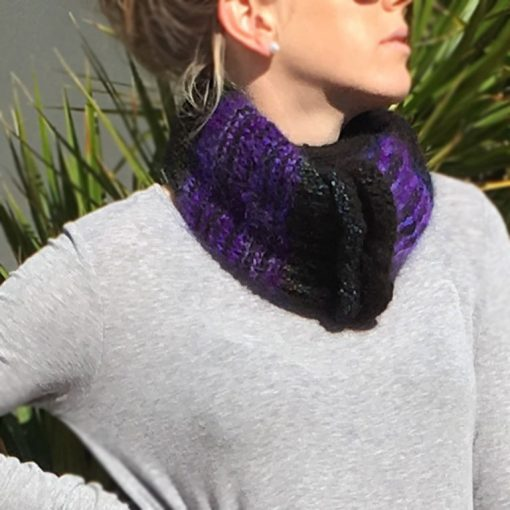 Cable Rib Cowl Electric Purple