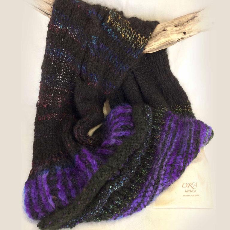 Cable Rib Cowl Electric Purple