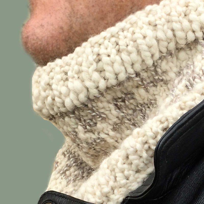 Chunky Knit Mosaic Cowl Unisex