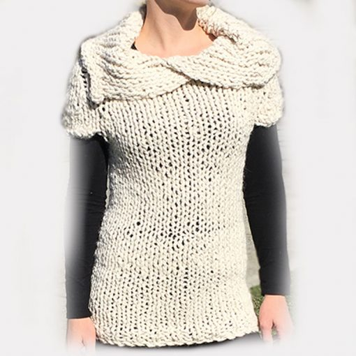 chunky knit tunic