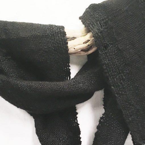 Alpaca Woven Scarf Black