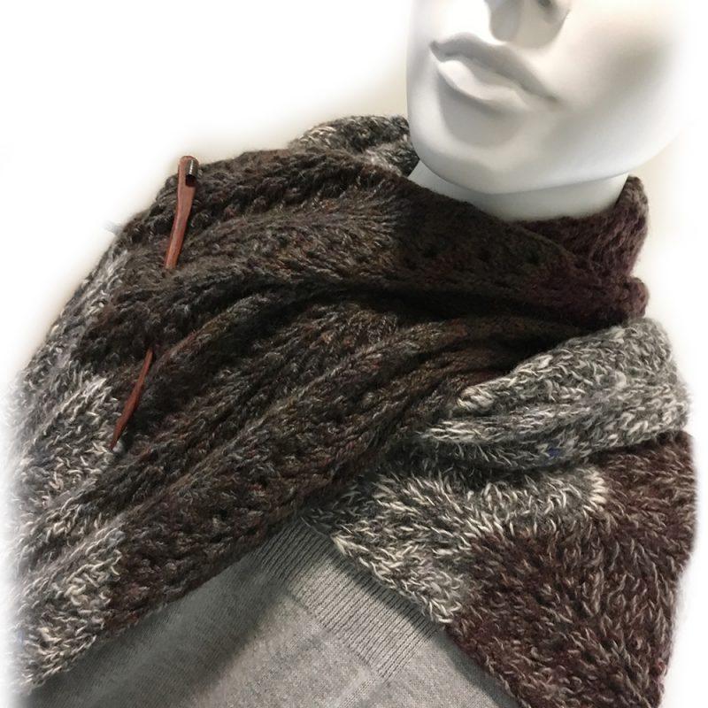 Alpaca Scarf Lace Design