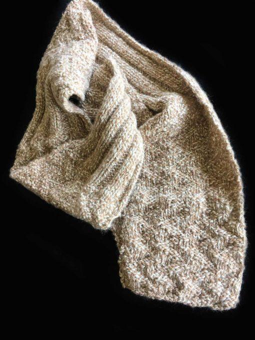 Alpaca Scarf Tweed Rib