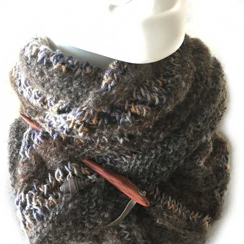 Alpaca Shawl Winter Colours