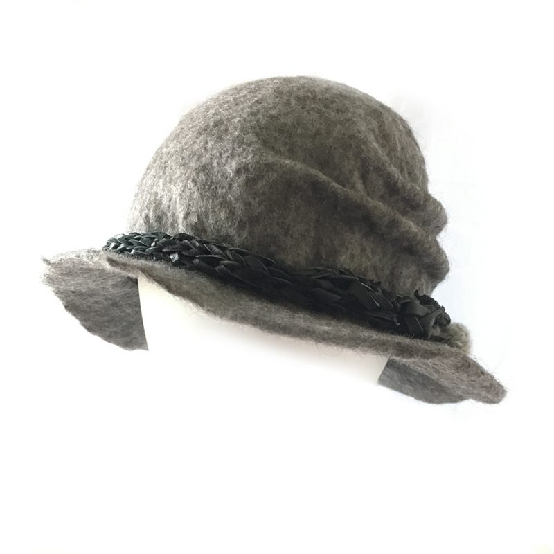 Alpaca Felt Hat Grey