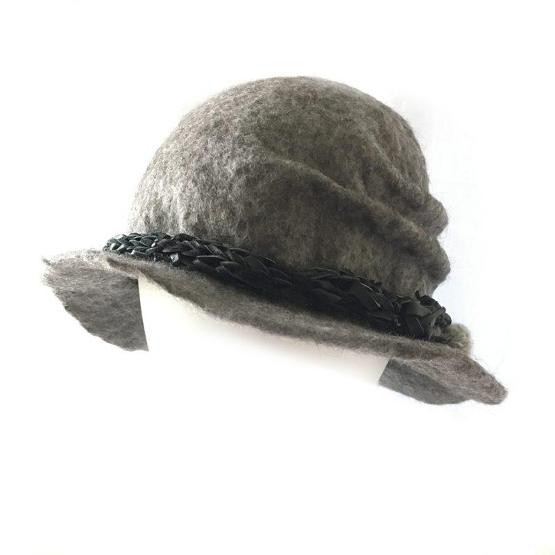 Alpaca Felt Hat Grey