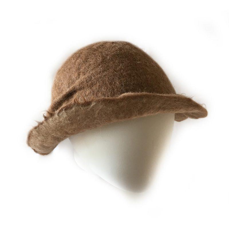 Alpaca Felt Hat Light Tan